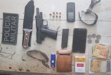 Photo of Polícia apreende pistola 380 com dois homens de Serra Grande, em moto na estrada de Carrapateira