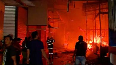 Photo of Incêndio é registrado no espaço da Brasilit na Feira da Sulanca em Caruaru