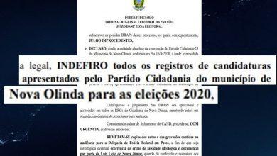 Photo of Justiça Eleitoral indefere todos os registros de candidatura do partido Cidadania em Nova Olinda