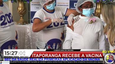 Photo of ASSISTA: Momento histórico Itaporanga  realiza primeira vacinação contra a Covid-19