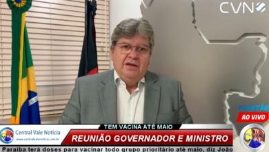 Photo of ASSISTA: Paraíba terá doses para vacinar todo grupo prioritário até maio, diz João após reunião com ministro