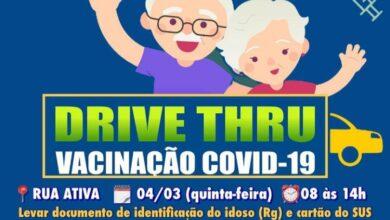 Photo of Prefeitura de Itaporanga realiza drive-thru para vacinar idosos de 82 a 89 anos