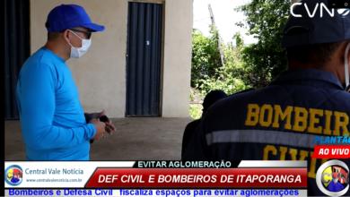 Photo of ASSISTA: Defesa Civil e Bombeiros civil de Itaporanga fiscaliza áreas de lazer e açudes  para evitar aglomeração durante a pandemia de Covid-19