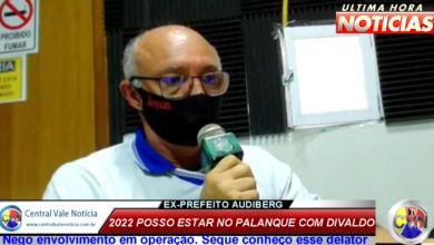Photo of ASSISTA: Ex-prefeito Audiberg nega envolvimento na Operação Calvário  e diz que pode estar no mesmo palanque politico com o prefeito Divaldo em 2022
