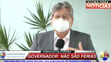 """Photo of ASSISTA: João Azevêdo fala sobre decreto com antecipação de feriados e enfatiza: """"não são férias"""""""