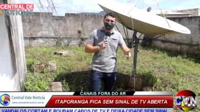 Photo of ASSISTA: Vândalos cortam  e roubam cabos de tv deixando a cidade de Itaporanga sem sinal de TV aberta
