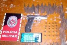 Photo of PM prende suspeito de roubo, tentativa de homicídio, em Aguiar; Uma pistola 380 e 20 munições foram apreedidas com o homem