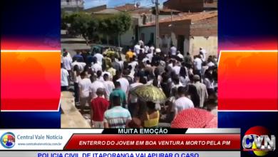Photo of ASSISTA: Comoção marca enterro do jovem de Boa Ventura morto pela policia