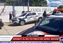 Photo of ASSSITA: A chegada do suspeito de ter matado sua mulher a tiros em São José de Caiana na cadeia de Itaporanga
